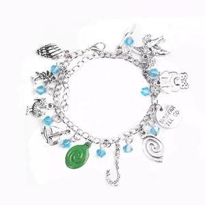 🌀 Moana handmade silver dangle charm bracelet 🌀